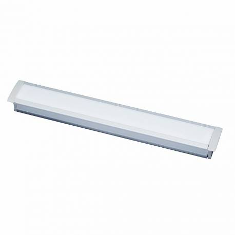 Perfil de aluminio Maslighting para empotrar 2m, difusor opal y tapas