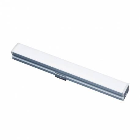 Perfil de aluminio Maslighting de superficie 2m, difusor opal y tapas