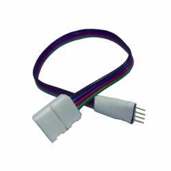 Conector inicial IP20 RGB con cable