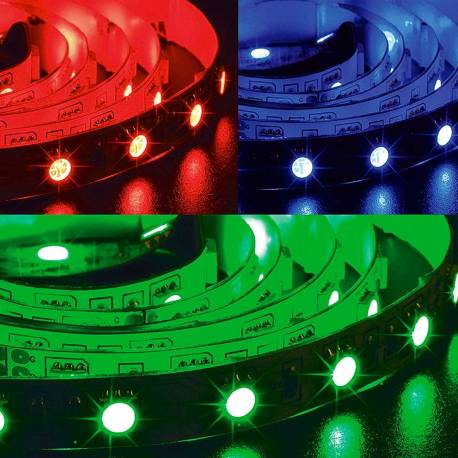 Tira led RGB 5050 rollo de 5m 24v 60 led m IP65