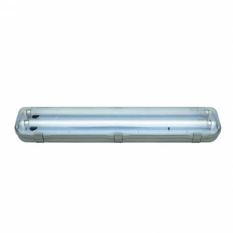 Regleta estanca IP65 2x1,5 m cableada Maslighting para tubos Led
