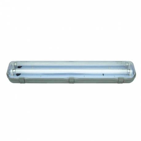 Regleta estanca IP65 2x1,2 m cableada Maslighting para 2 tubos Led