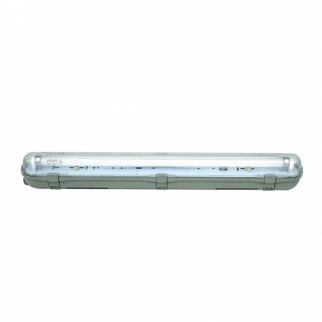 Regleta estanca IP65 1x1,2 m cableada Maslighting para 1 tubo Led