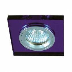 Foco cuadrado de cristal empotrable Maslighting para led 50 mm 12v