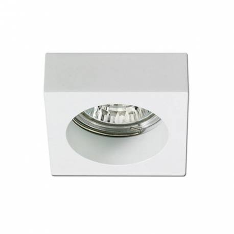 Foco de supeficie cuadrado fijo de aluminio Maslighting IP20 color blanco
