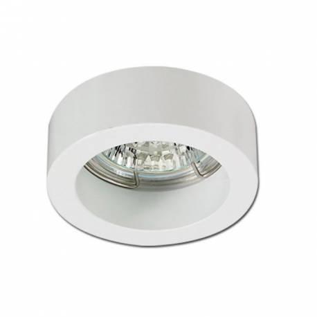 Foco de supeficie redondo fijo de aluminio Maslighting IP20 color blanco