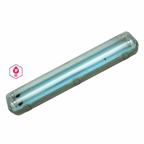 Regleta estanca IP65 2x0,6m cableada Maslighting para tubos Led