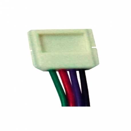 Conector intermedio con cable para tira de led RGB IP65