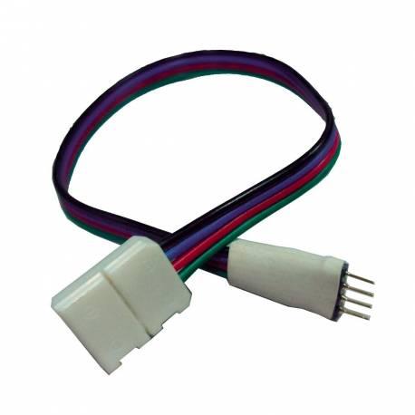Conector inicial con cable para tira de led RGB IP65