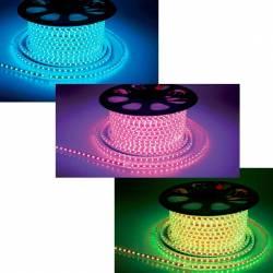 Tira de led RGB 5050 de 1 metro en tubo de PVC. IP65 60 Led/m 220v