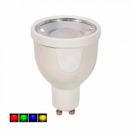 Lámpara Led RGB GU10 4W 250 Lm 120° regulable