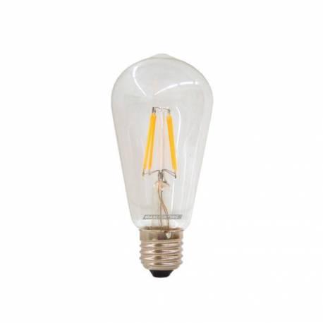 Lámpara Vintage Led E27 4W 450 Lm 3000K 360° evoca las antiguas lámparas con filamento