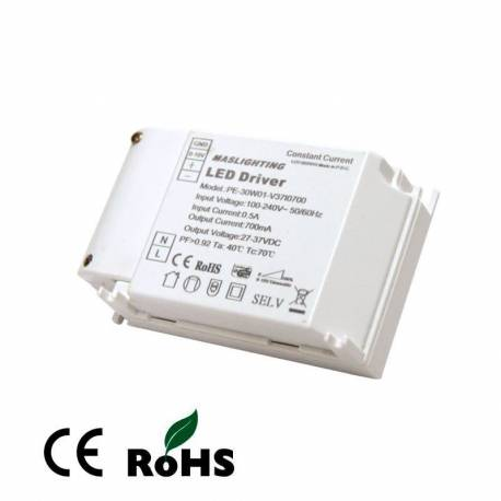 Driver Regulable 1-10v para panel led 45w