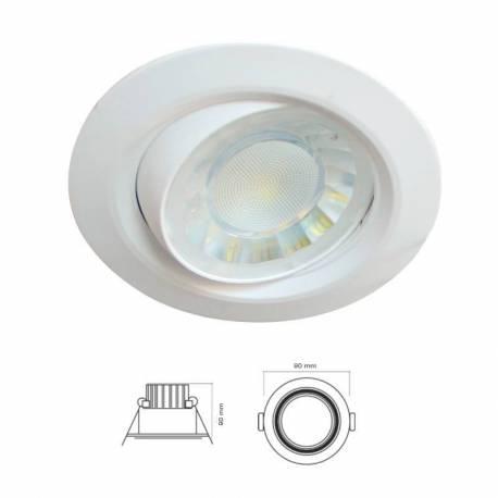 Foco redondo de LED 8w 600 lm