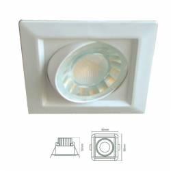 Foco cuadrado de LED 8w 600lm para cambiar focos halógenos