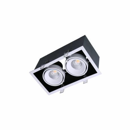Foco led Kardan Box 2x13W 2340 lúmens fabricado en Aluminio