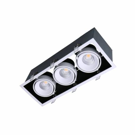 Foco led Kardan Box 3x13W 3510 lúmens fabricado en Aluminio