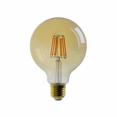 Bombilla led E27 Filamento Classic G95 Oro 8W 680 lumens