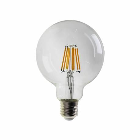 Bombilla led E27 Filamento Classic G95 Transparente 8W 850 lumens