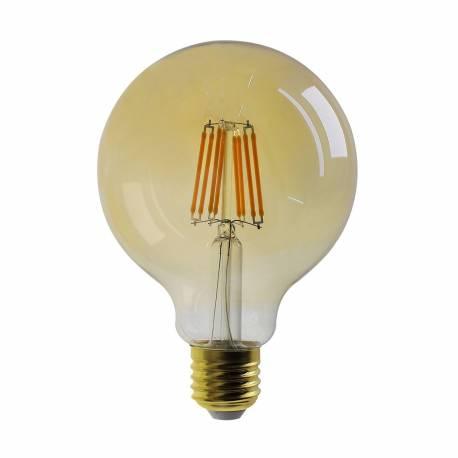 Bombilla led E27 Filamento Classic G125 Oro 8W 840 lumens